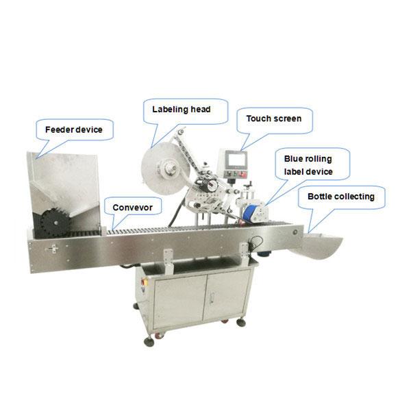 10ml Mała okrągła butelka Automatyczna samoprzylepna maszyna do etykietowania naklejek