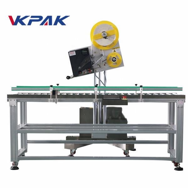 Automatyczny aplikator etykiet przemysłowych do małych pudełek papierowych