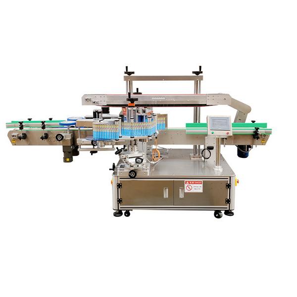 Automatyczna naklejka Dwustronna plastikowa maszyna do etykietowania butelek 12 miesięcy gwarancji