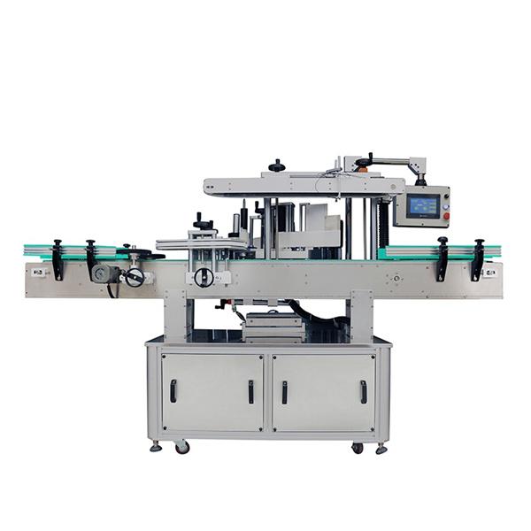 Automatyczna maszyna do etykietowania dwustronnych naklejek do szamponów owalnych i płaskich butelkach