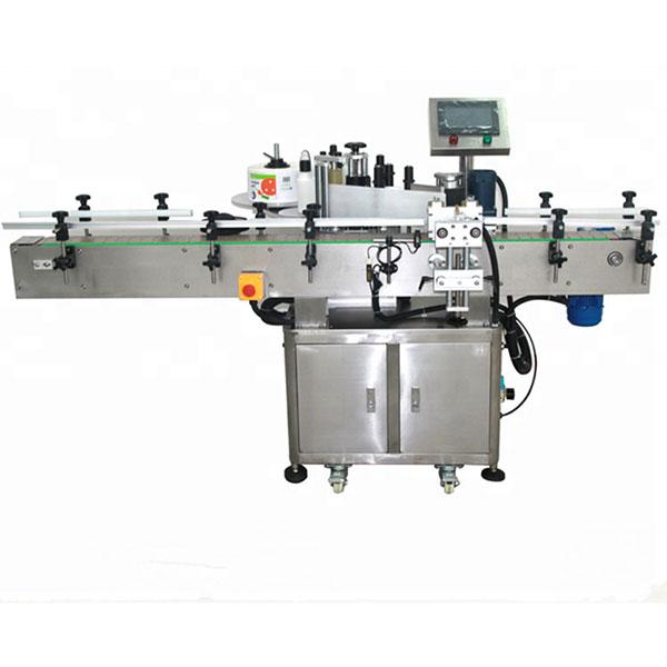 Automatyczna dwustronna maszyna do etykietowania naklejek Płaska kwadratowa butelka Okrągła butelka