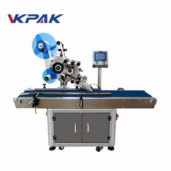Elektryczny automatyczny aplikator etykiet do płaskich powierzchni z stołem roboczym do zbierania
