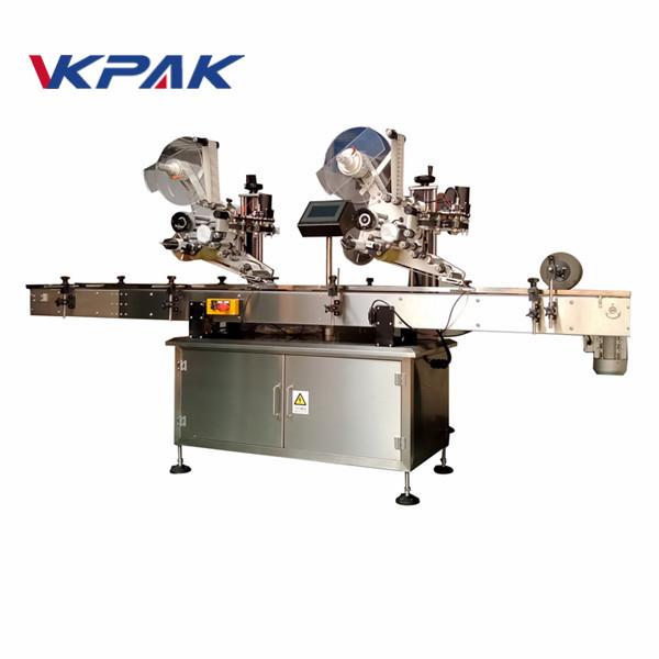 Maszyna do etykietowania naklejek samoprzylepnych z płaską powierzchnią z maszyną kodującą