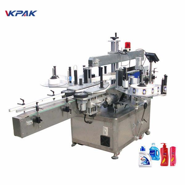 W pełni automatyczna dwustronna maszyna do etykietowania etykiet Płaski aplikator etykiet