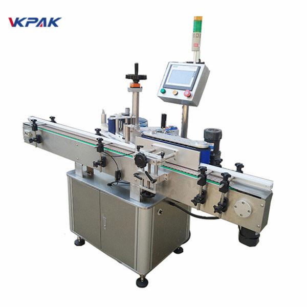 Szybka maszyna do etykietowania okrągłych butelek do automatycznego etykietowania produktów mlecznych i soków