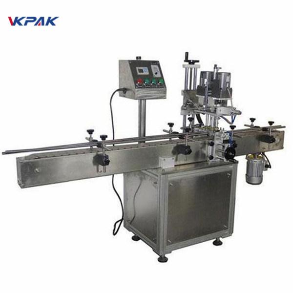 Przemysłowa dwustronna maszyna do etykietowania okrągłych butelek do produktów kosmetycznych