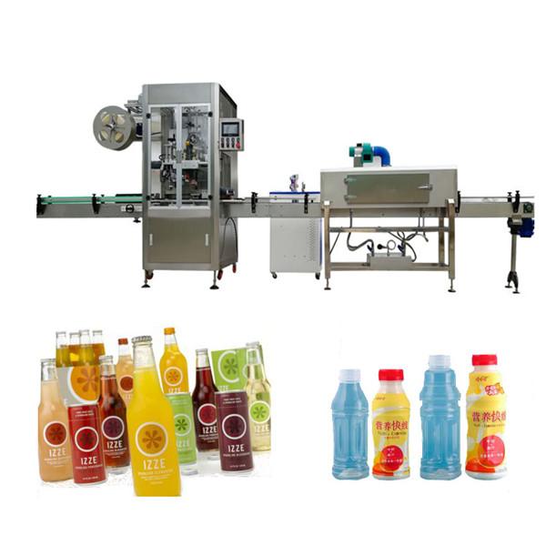 Maszyna do etykietowania termokurczliwych butelek dla zwierząt domowych z tunelem termokurczliwym