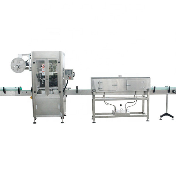 Maszyna do etykietowania termokurczliwych rękawów z plastikowym kubkiem z generatorem pary