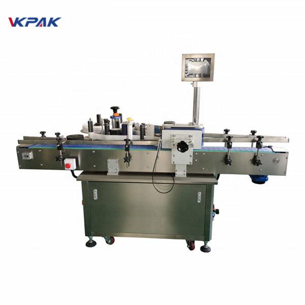 Standardowa automatyczna maszyna do etykietowania okrągłych butelek z przodu iz tyłu