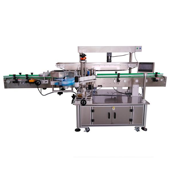 Trzy etykiety samoprzylepne maszyny do etykietowania