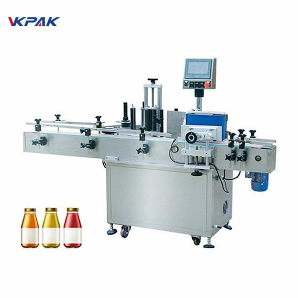 Butelka wina Jednostronna automatyczna maszyna do etykietowania okrągłych butelek
