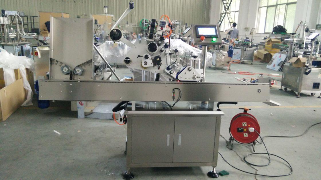 Maszyna do naklejania etykiet z czarną butelką o dużej prędkości