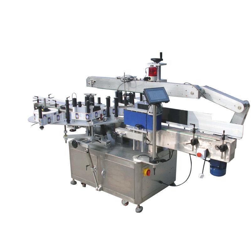 Okrągłe butelki Maszyna do etykietowania dwustronnie naklejek do napojów, żywności, chemikaliów