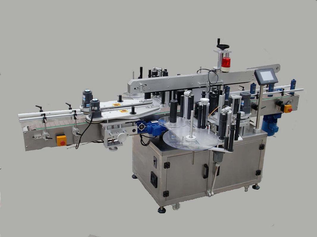 Automatyczna maszyna do etykietowania dwustronnych naklejek z urządzeniem przywoławczym i maszyną kodującą