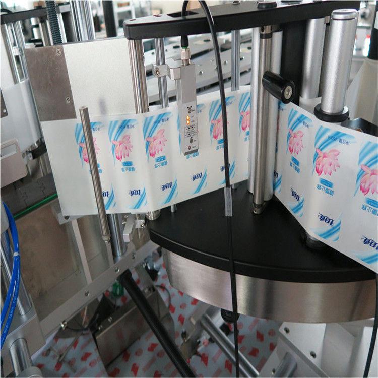 Automatyczna maszyna do etykietowania naklejek na butelki z pojedynczym / dwustronnym sześciokątem