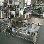 Maszyna do etykietowania dwustronnych naklejek na owalną butelkę szamponu