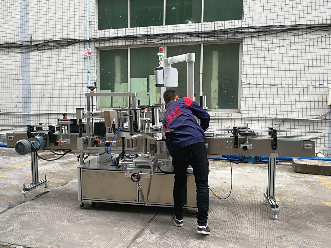 W pełni automatyczna maszyna do etykietowania butelek na wodę do butelek szklanych / PET