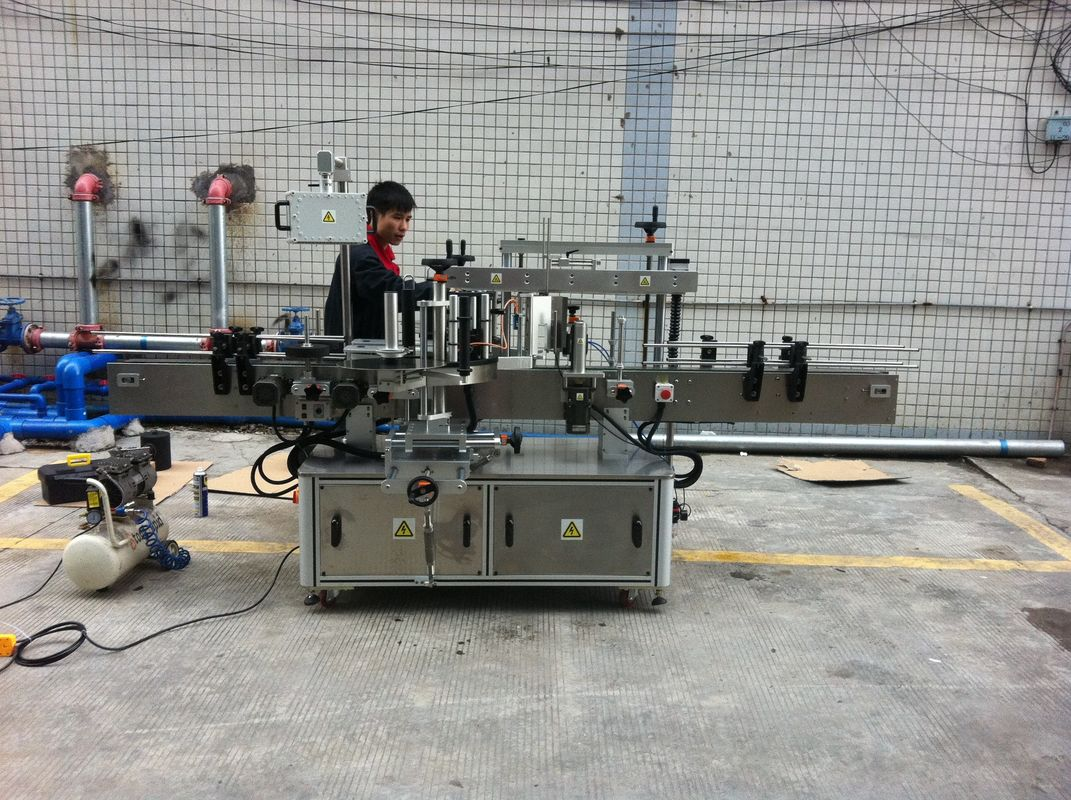 W pełni automatyczna samoprzylepna okrągła maszyna do etykietowania butelek dla zwierząt domowych