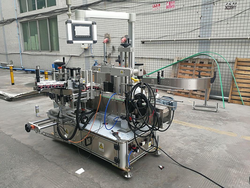 W pełni automatyczna maszyna do etykietowania butelek z dwustronnym klejem z koderem